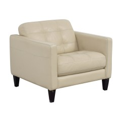Cream Leather Accent Chairs Chair Design Plastic 77 Off Macy 39s Tufted Armchair