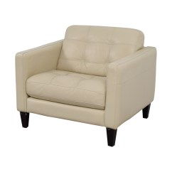 Cream Leather Accent Chairs Posture Care Chair Cost 77 Off Macy 39s Tufted Armchair