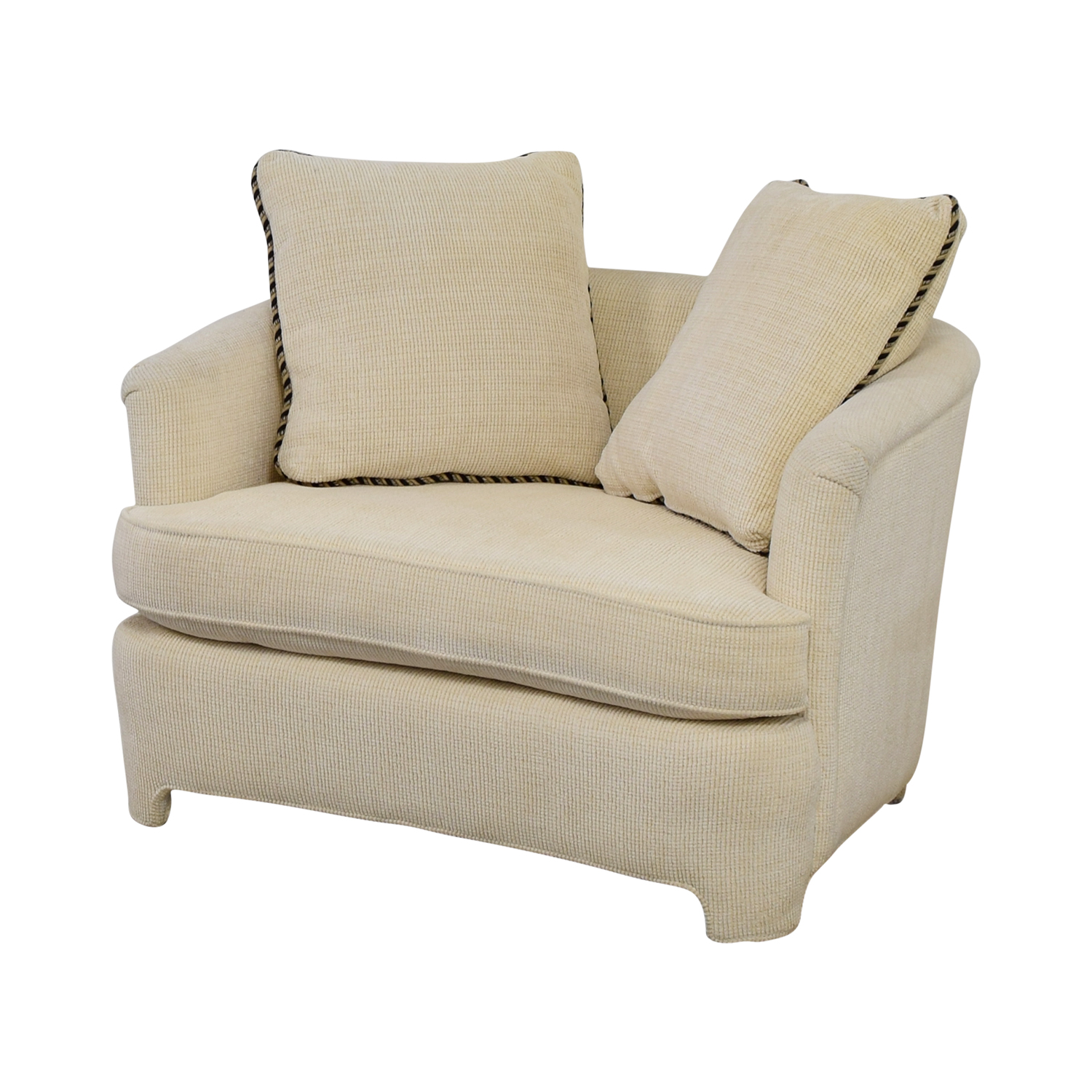 Off White Accent Chair 90 Off Off White Accent Chair With Pillows Chairs