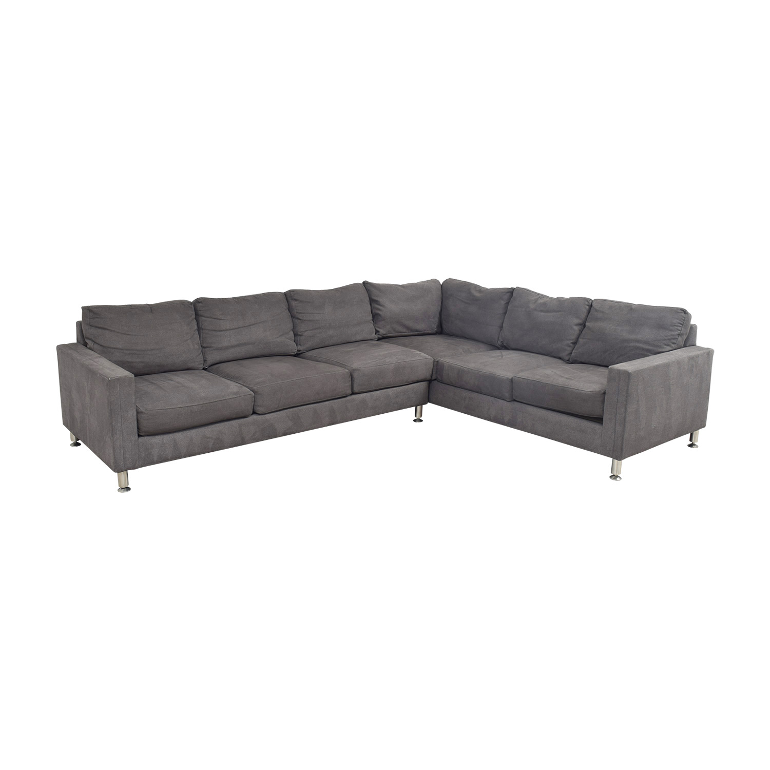 85 OFF  Safavieh Safavieh Grey LShaped Sectional  Sofas