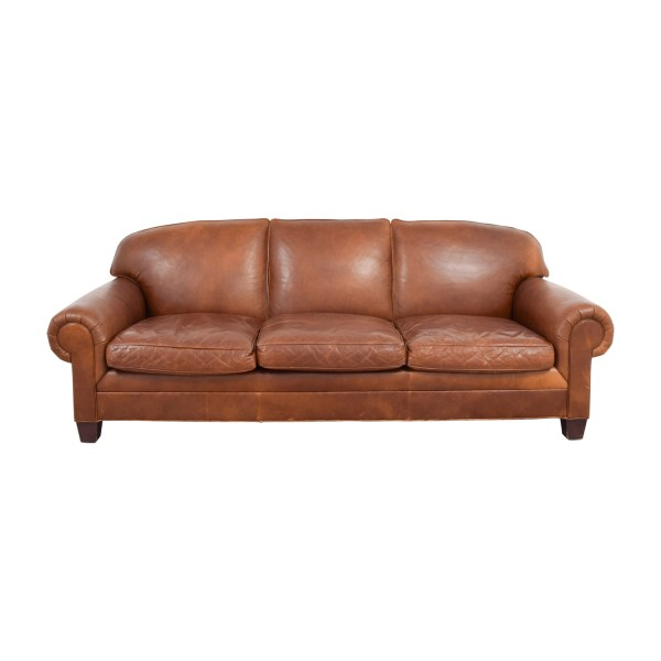 Burnt Orange Leather Sofa