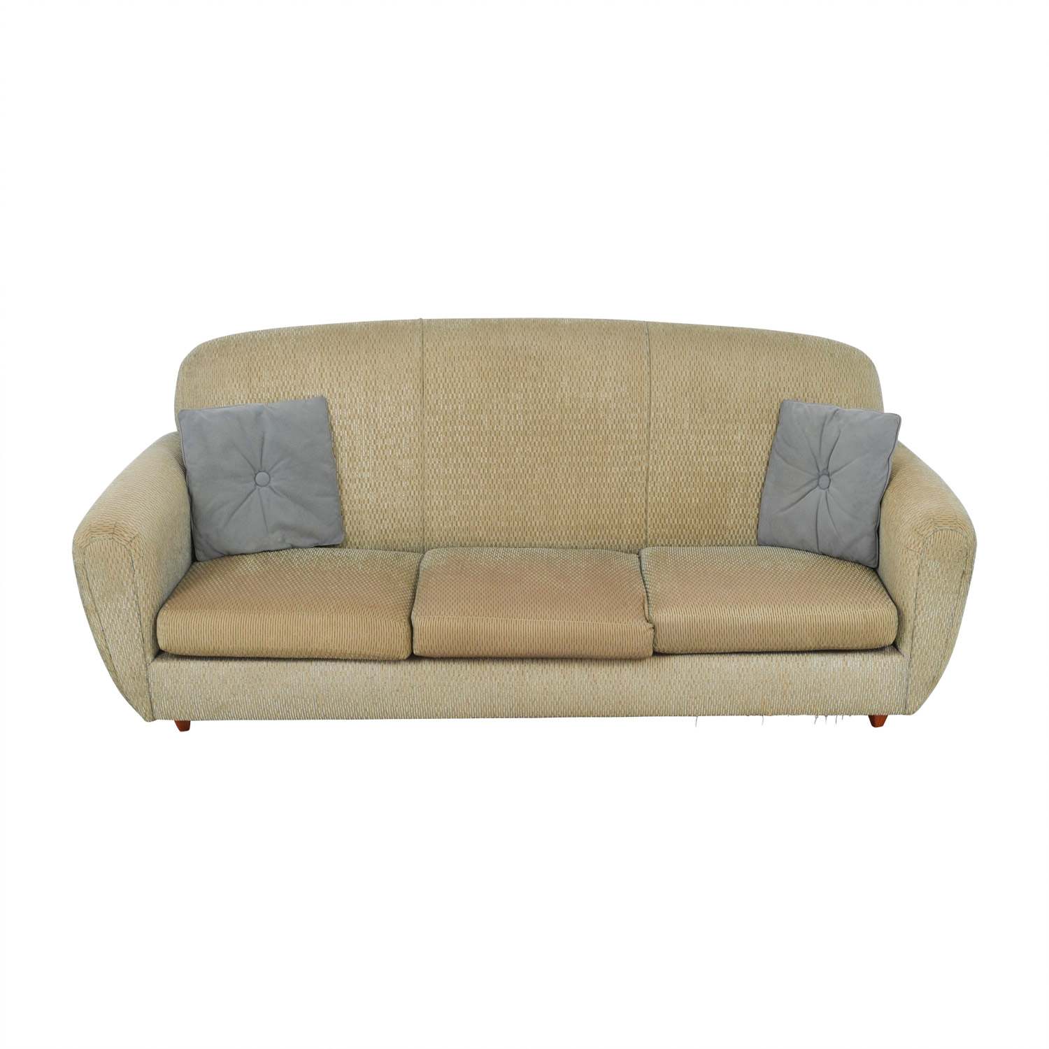 colored sofas sofa bed for small space 90 off green multi three cushion