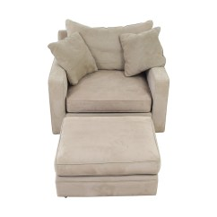 Grey Oversized Chair With Ottoman Rubber Leg Protectors Ottomans Used For Sale