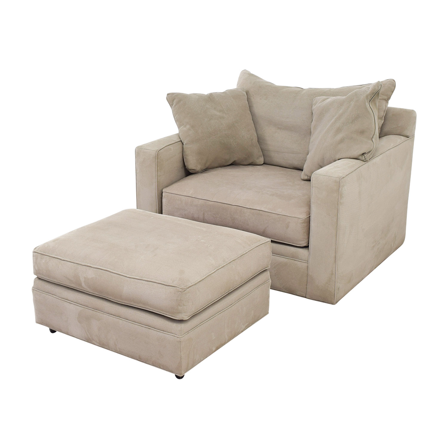 room and board metro sleeper sofa sectional with reversible chaise ottoman 90 off grey accent