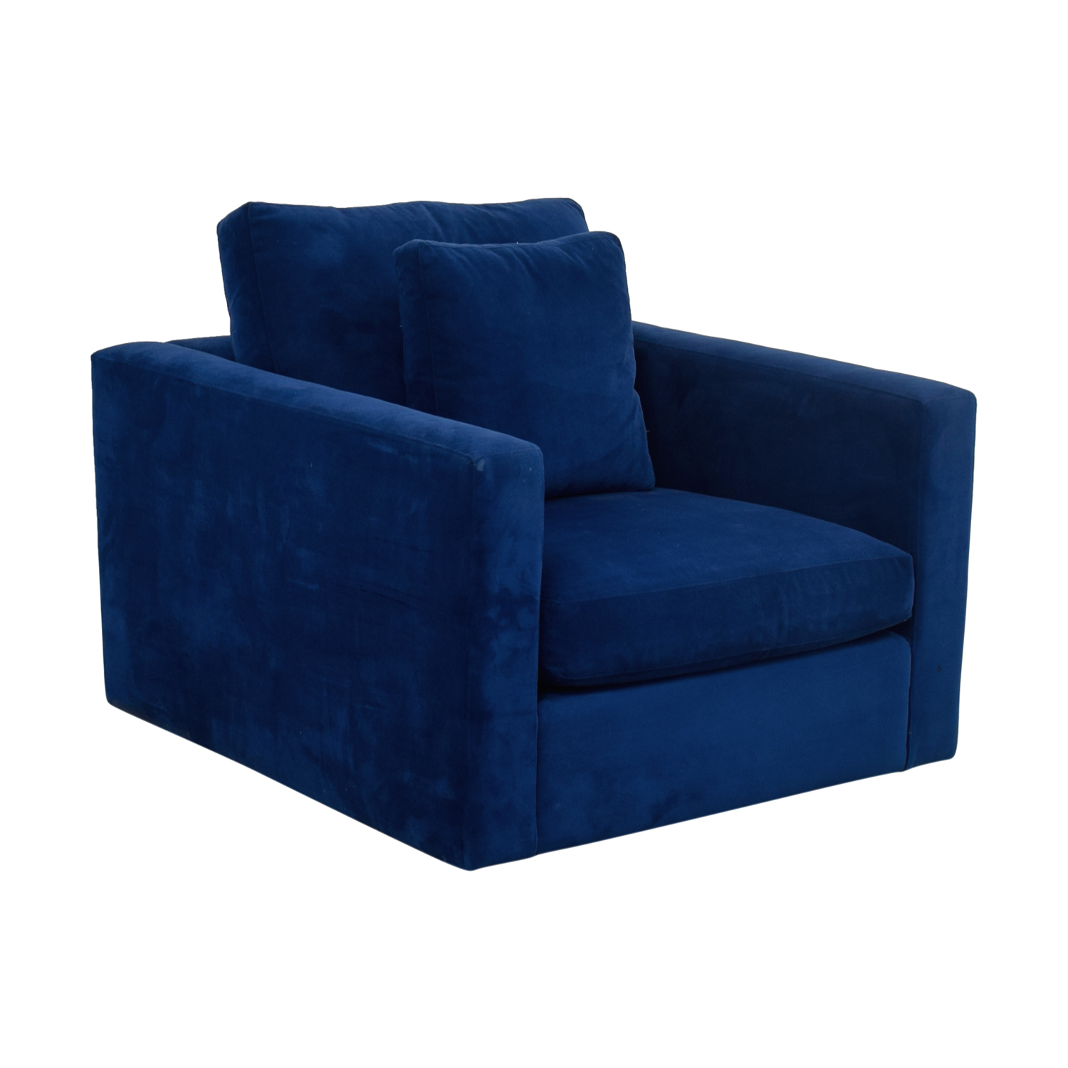 Blue Accent Chair With Arms 90 Off Blue Arm Chair With Toss Pillow Chairs