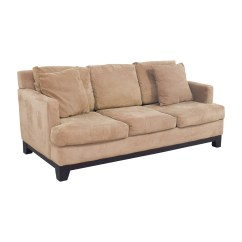Macy S Furniture Sofa Tables Black And Gold 77% Off - Macy's Light Brown Microfiber Three ...