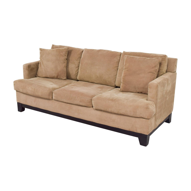 macys sectional sofa microfiber bed mattress replacement sydney 77 off macy 39s light brown three