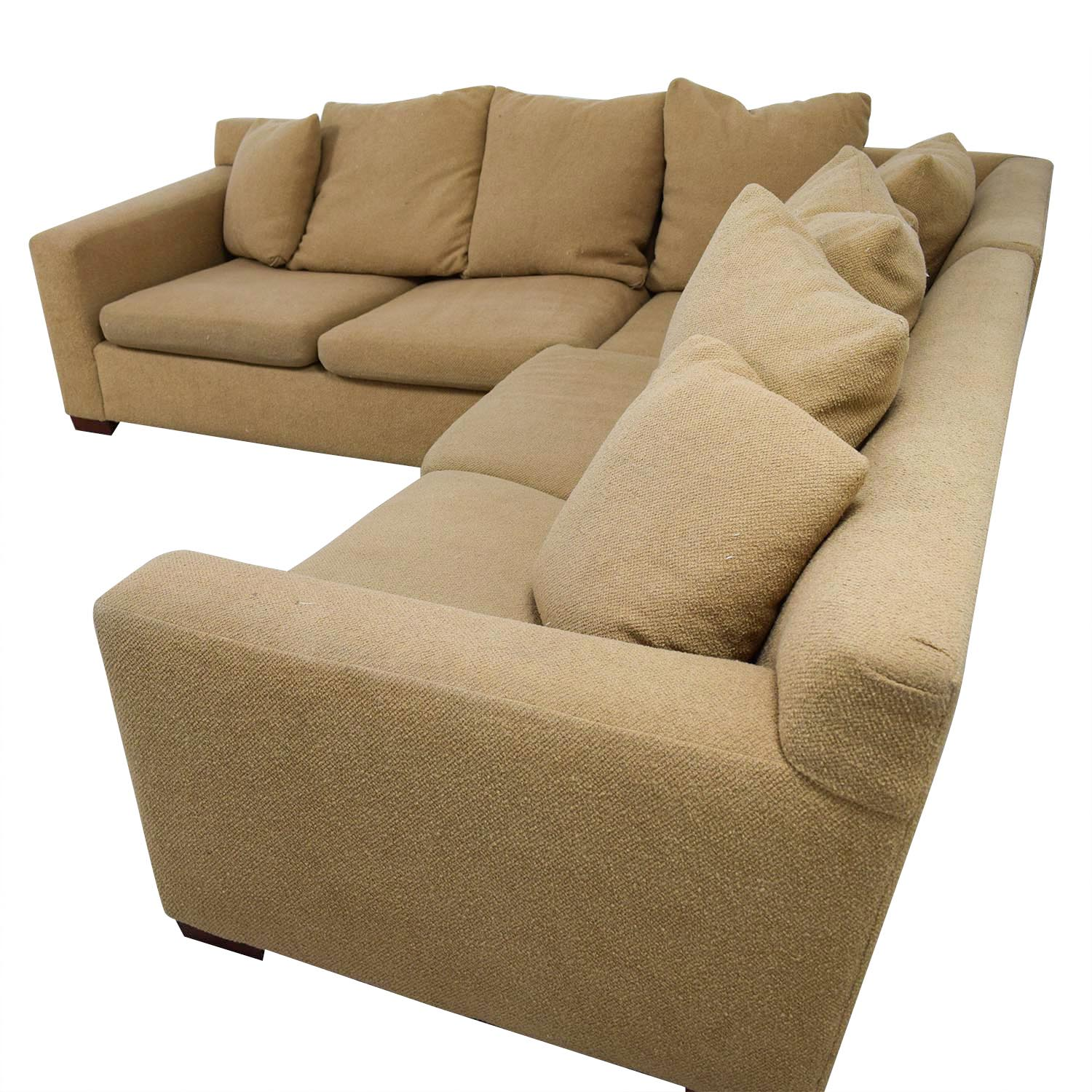 feather filled sofas second hand sofa set costco 89 off ralph lauren down tan