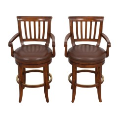 Ethan Allen Leather Chair Tables And Chairs For Hotels 79 Off Brown Stools