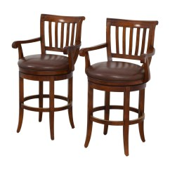 Ethan Allen Leather Chair Sunbrella Lounge Chairs 79 Off Brown Stools