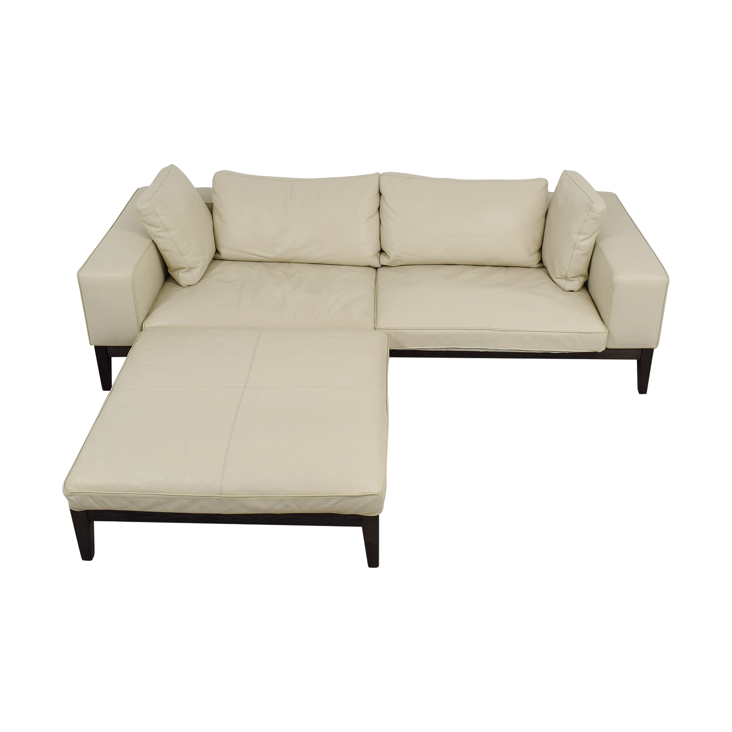 large chaise sofa leather corner uk online 90 off tree contemporary italian white