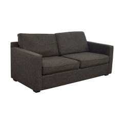 Crate And Barrel Lounge Sofa Pilling Single Futon Bed Uk 63 Off Davis Grey Two