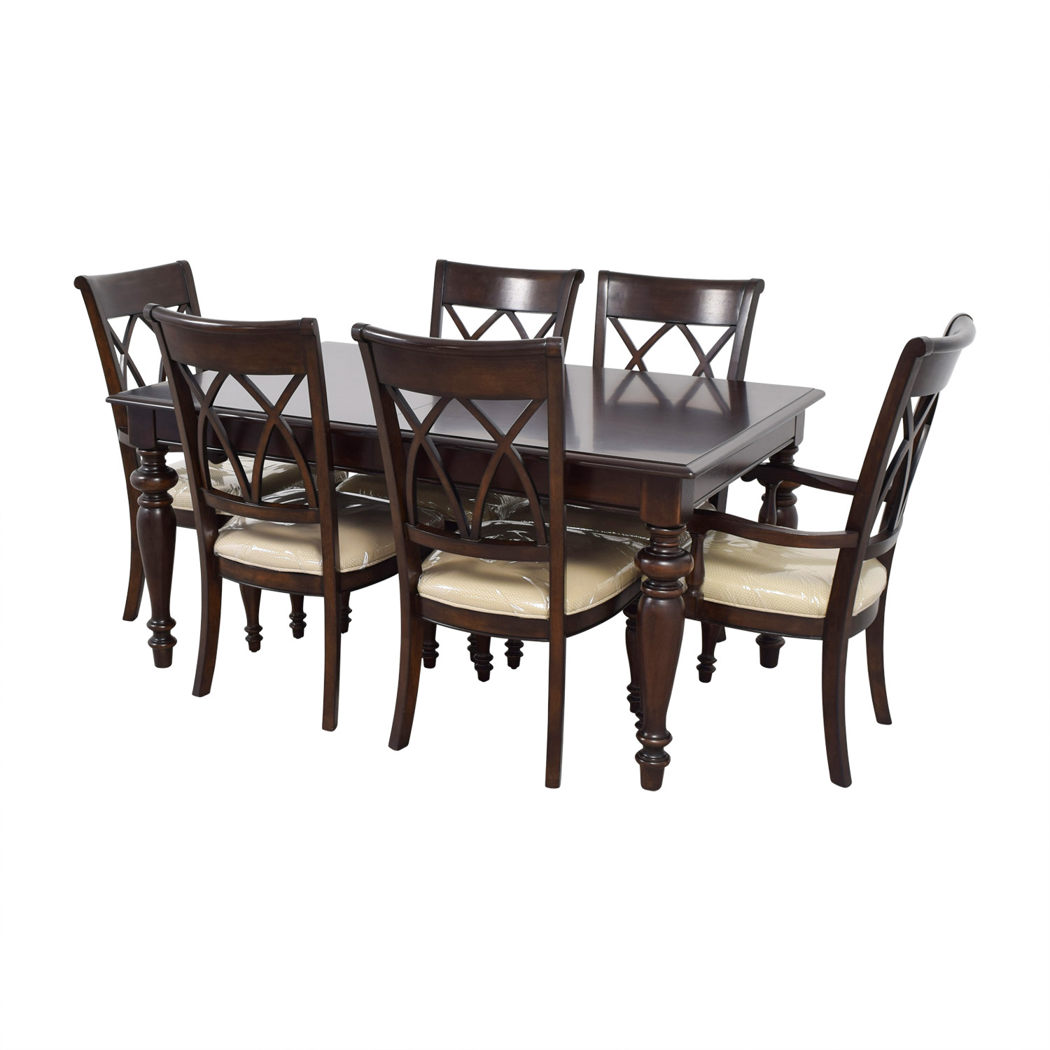 macys dining chairs wooden slat 68 off macy 39s wood set with beige