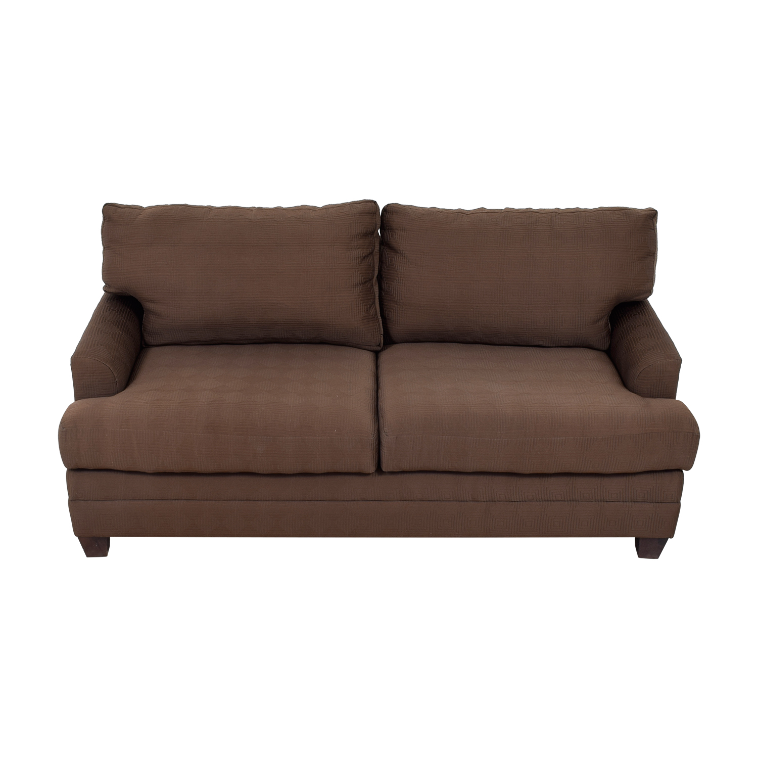 bassett sofa bed marshfield furniture tanner lodge 90 off chocolate couch sofas