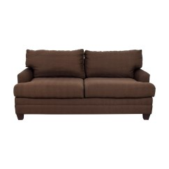 Bassett Sofa Bed Modern Made In Usa 90 Off Chocolate Couch Sofas