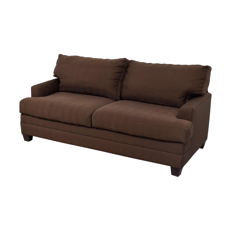 bassett sofa bed loft sofas modern furniture 90 off chocolate couch