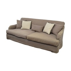 Feather Filled Sofas Second Hand Mancini Dark Brown Beige Modern Sectional Sofa And Ottoman Set 90 Off Cisco Brothers Grey Linen Down
