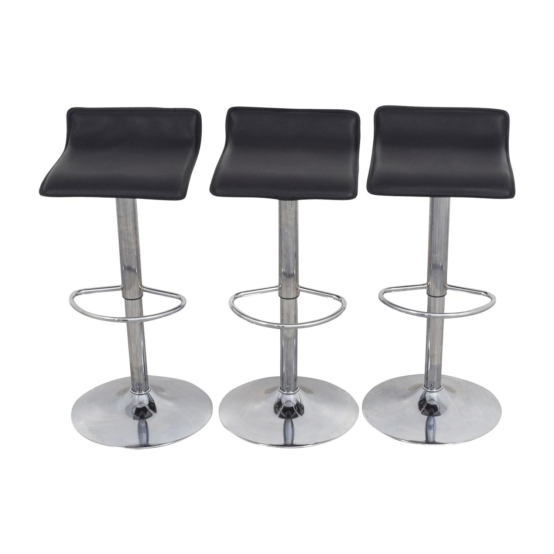 black bar stool chairs modern chair 88 off target adjustable stools