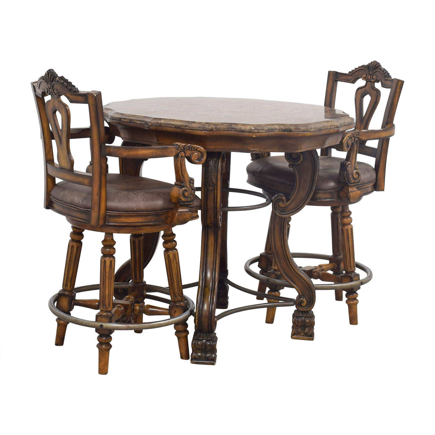 Ashley Furniture Table And Chairs 90 Off Ashley Furniture Ashley Furniture Faux Marble