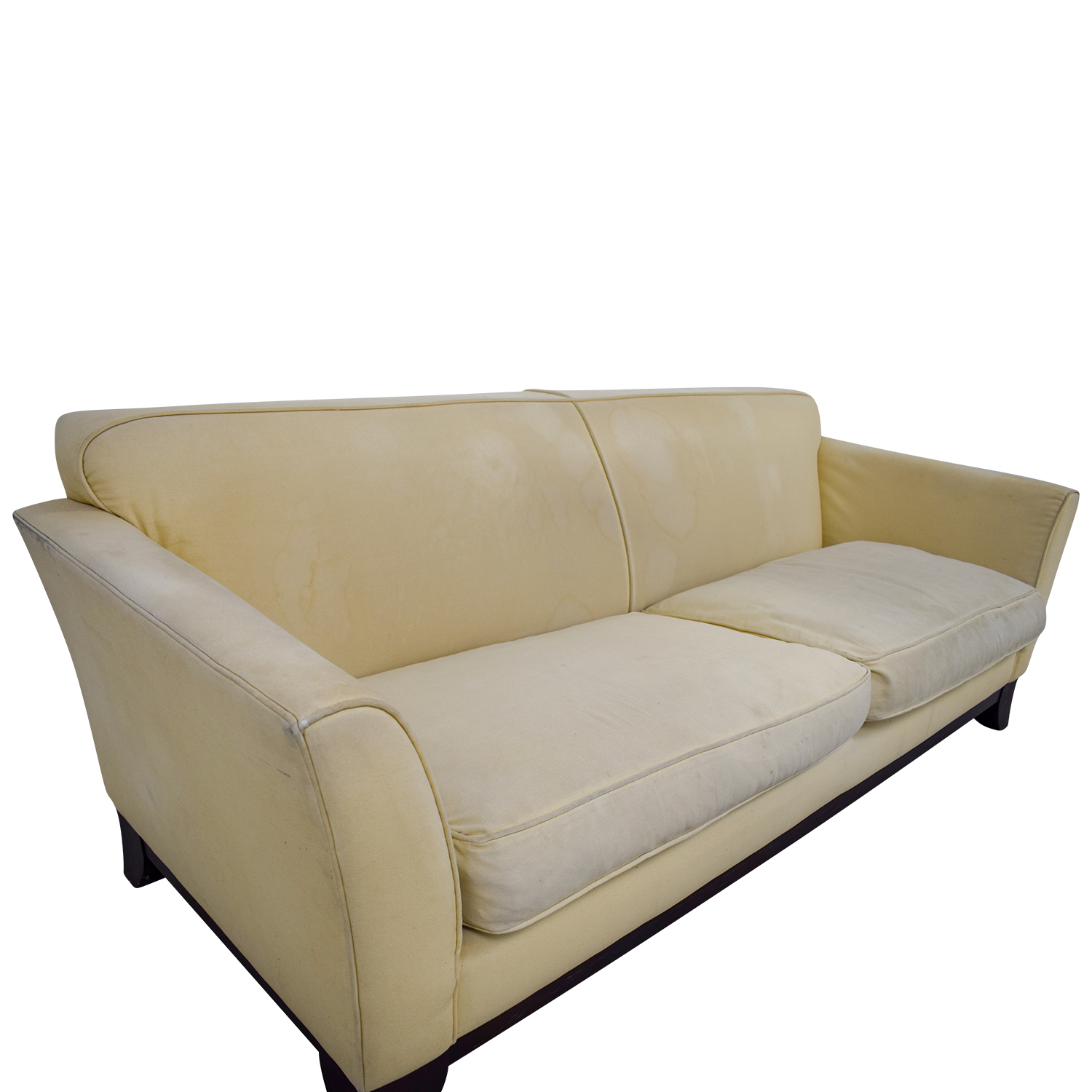 pottery barn sofa for sale by owner extra large bed 90 off beige upholstered two
