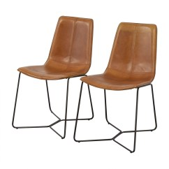 West Elm Chairs Dining Fishing Chair Covers 46 Off Leather Slope