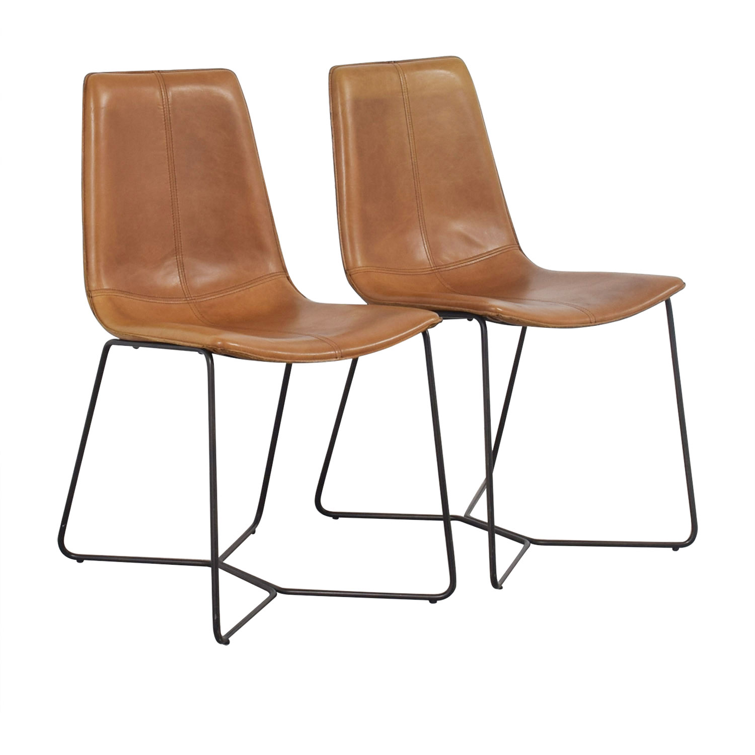 west elm chairs dining kd smart chair manual 46 off leather slope