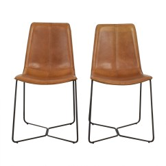 West Elm Chairs Dining French Arm Chair 46 Off Leather Slope
