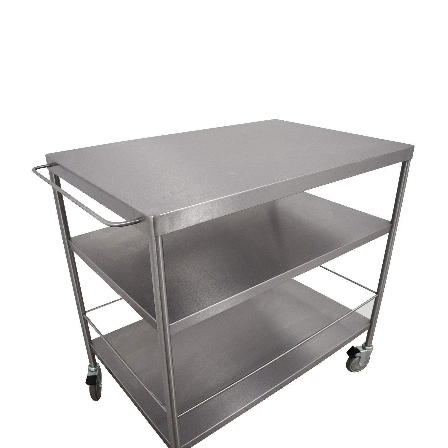stainless steel kitchen cart cast iron undermount sink 59 off ikea tables