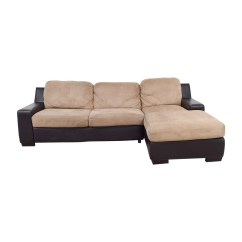 Brown And Beige Sofa Maxwell Look Alike 90 Off Pottery Barn Chaise
