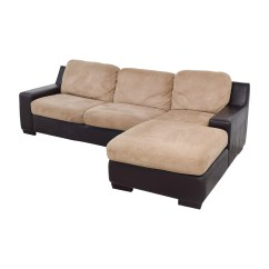 Pottery Barn Chaise Sofa Sectional Table For Sale By Owner 90 Off Brown And Beige