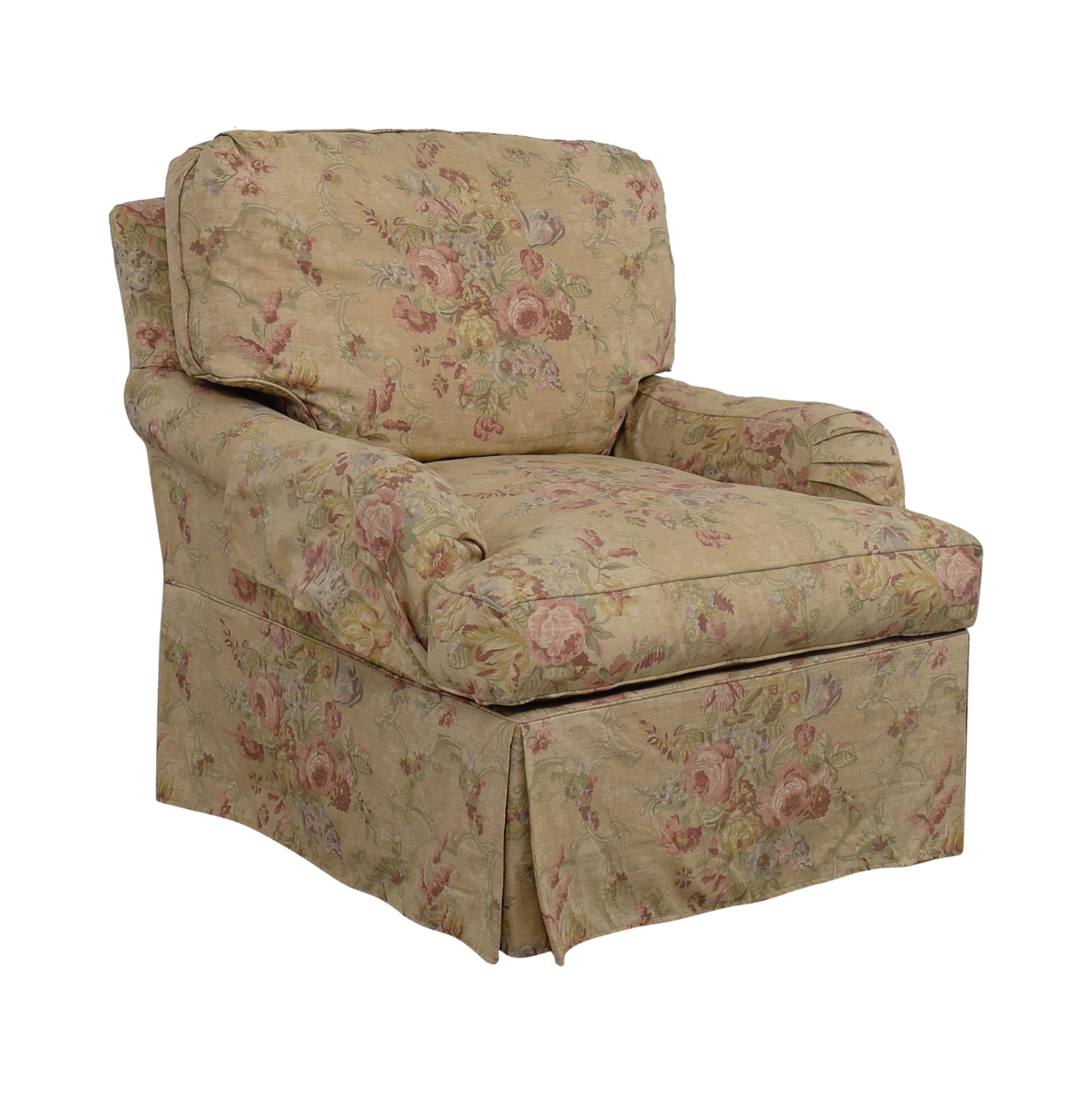 Floral Chairs 90 Off Domain Domain Beige And Pink Floral Accent Chair