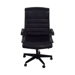 Revolving Chair Second Hand Baby Activity Reviews 88 Off Black Leather Office Chairs