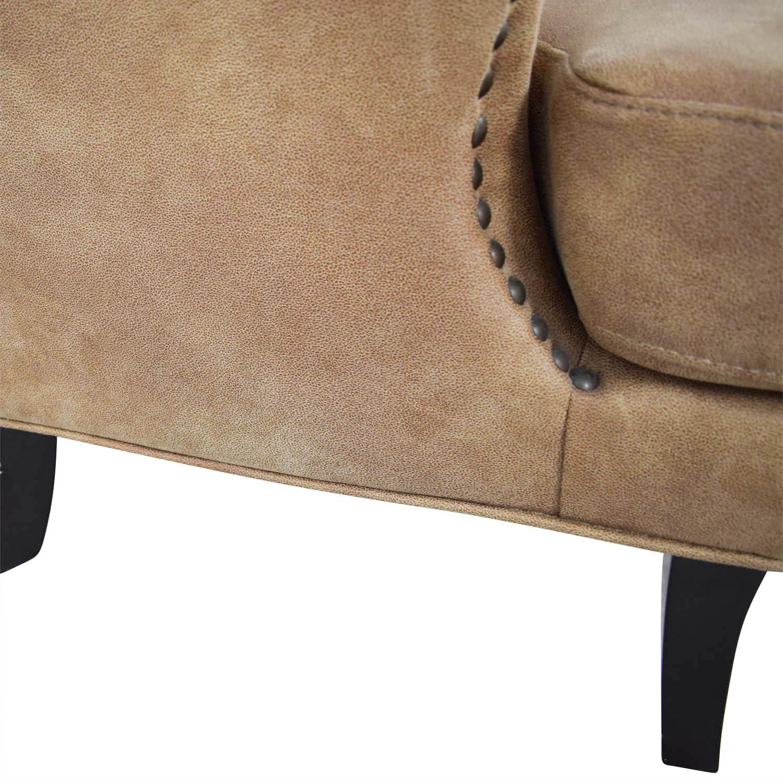joss and main chairs swivel chair cartoon 90 off nola brown nailhead arm