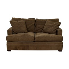 Crate And Barrel Chair Cushions Couch Covers 90 Off Brown Two Cushion