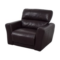 90% OFF - Macys Macys Chocolate Leather Recliner / Chairs