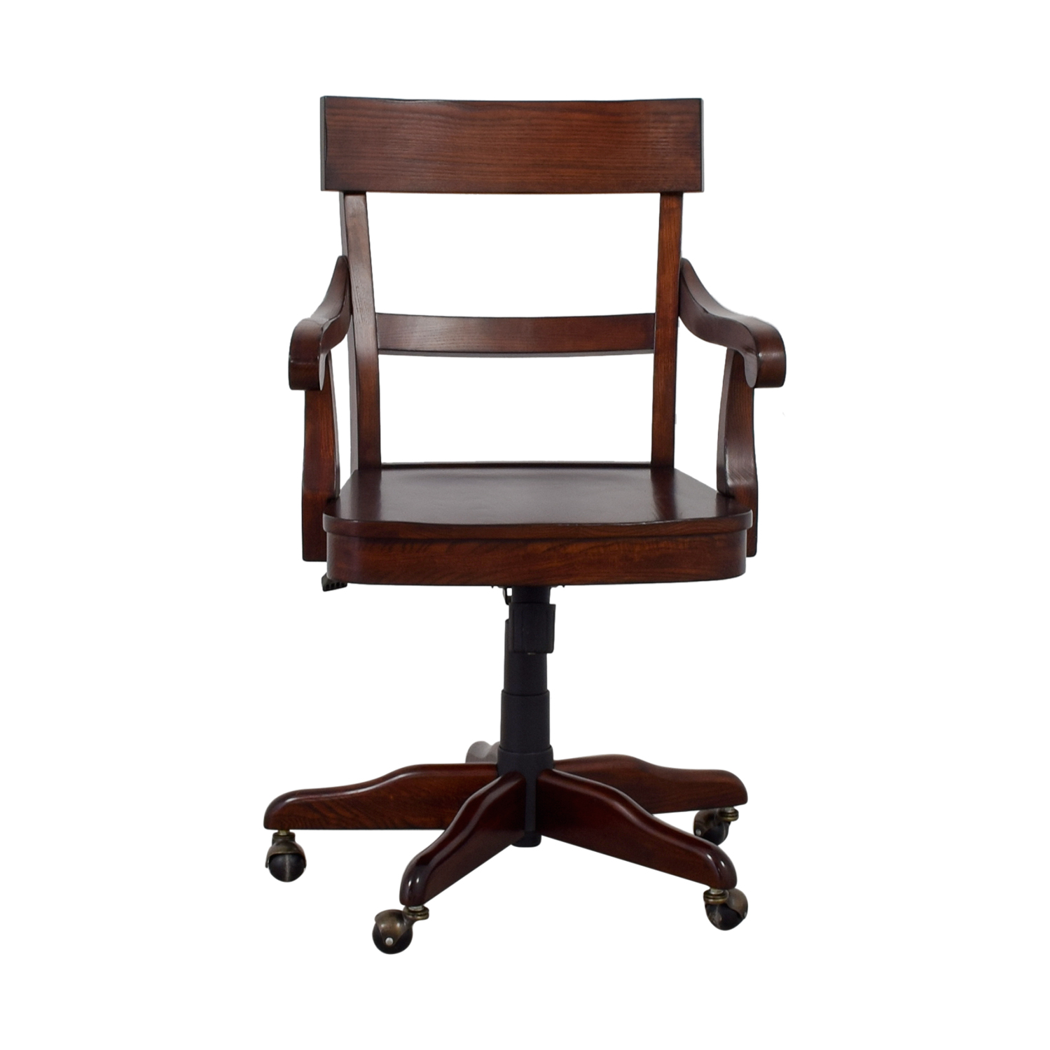 swivel chair pottery barn chairs for vanity tables 55 off wood desk