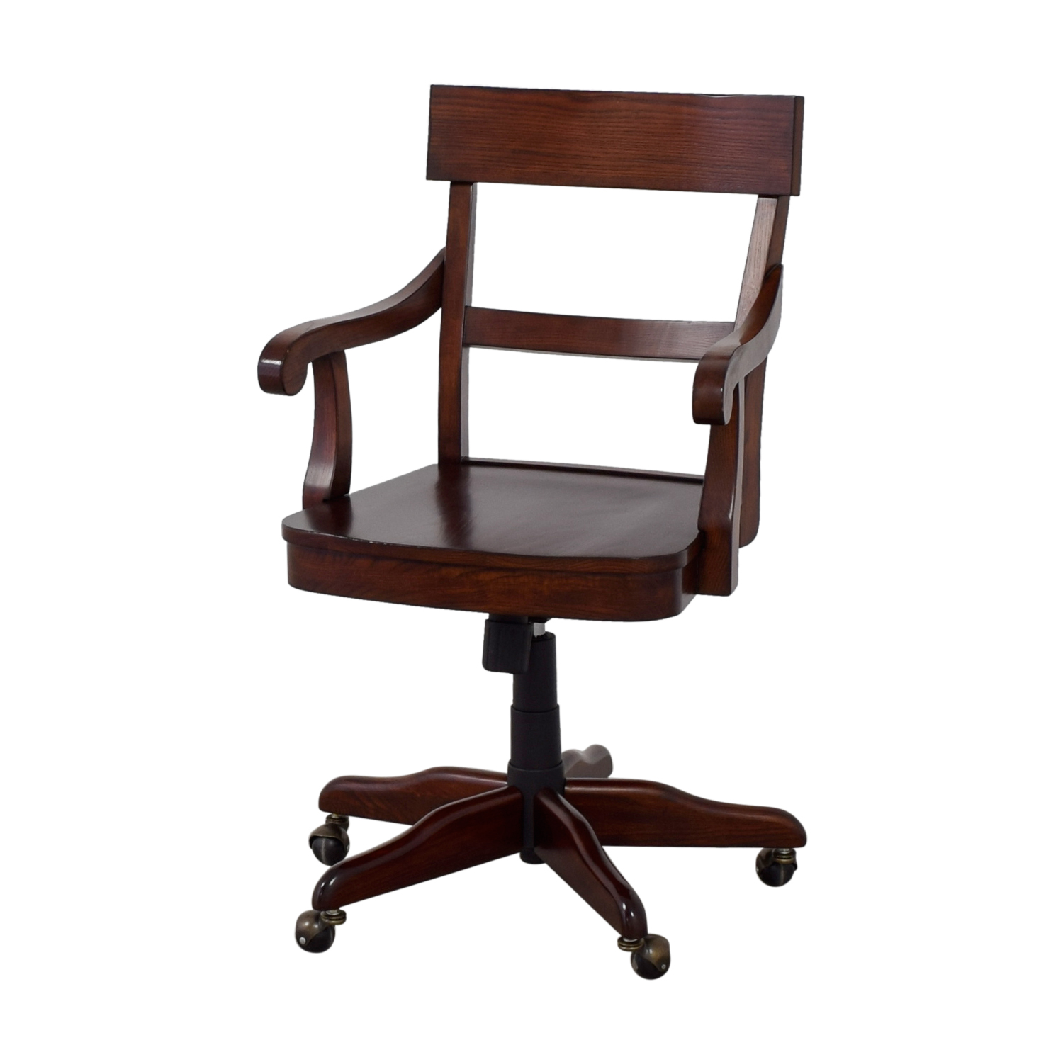 swivel chair pottery barn cover hire gretna 55 off wood desk