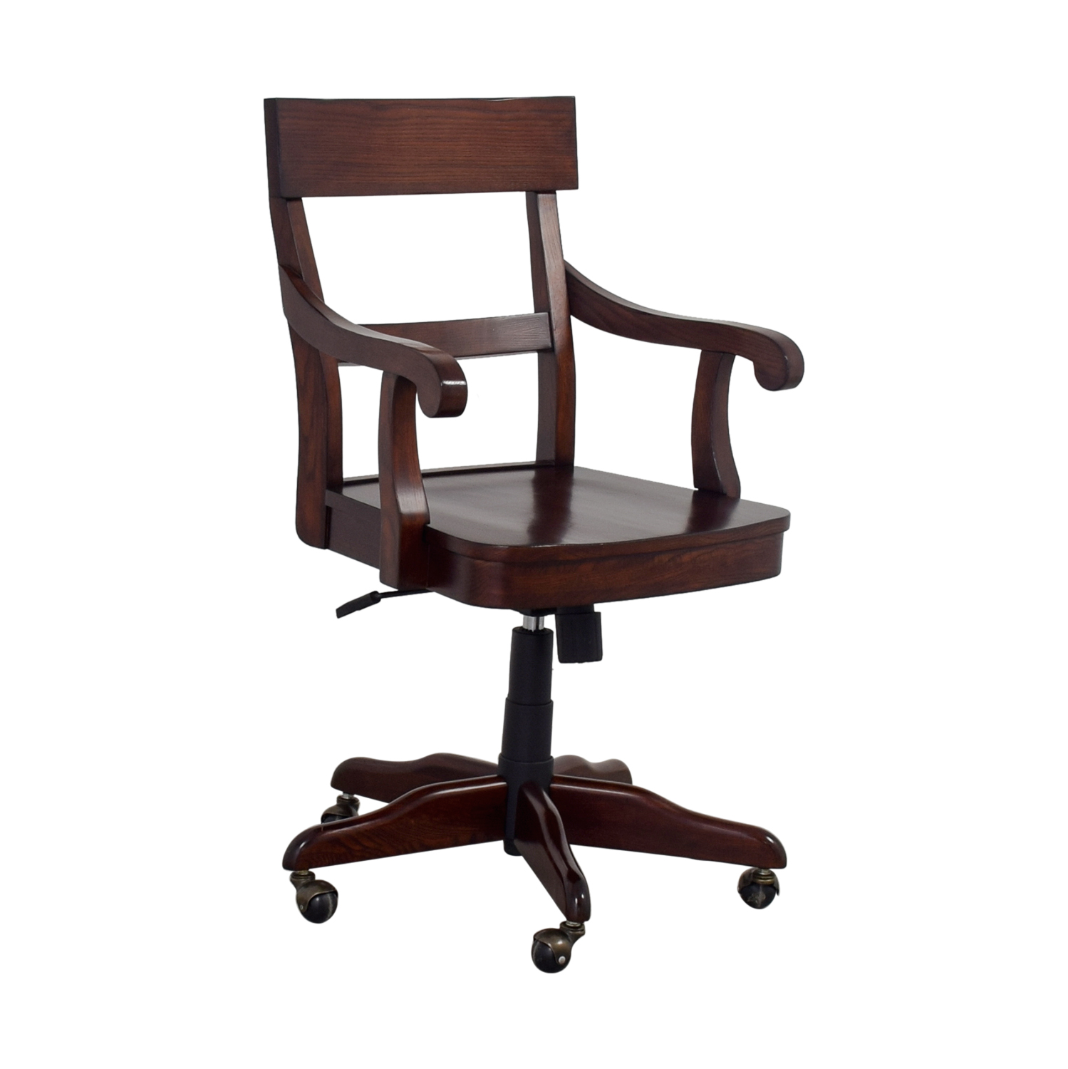 used desk chairs evenflo modern high chair 55 off pottery barn swivel wood