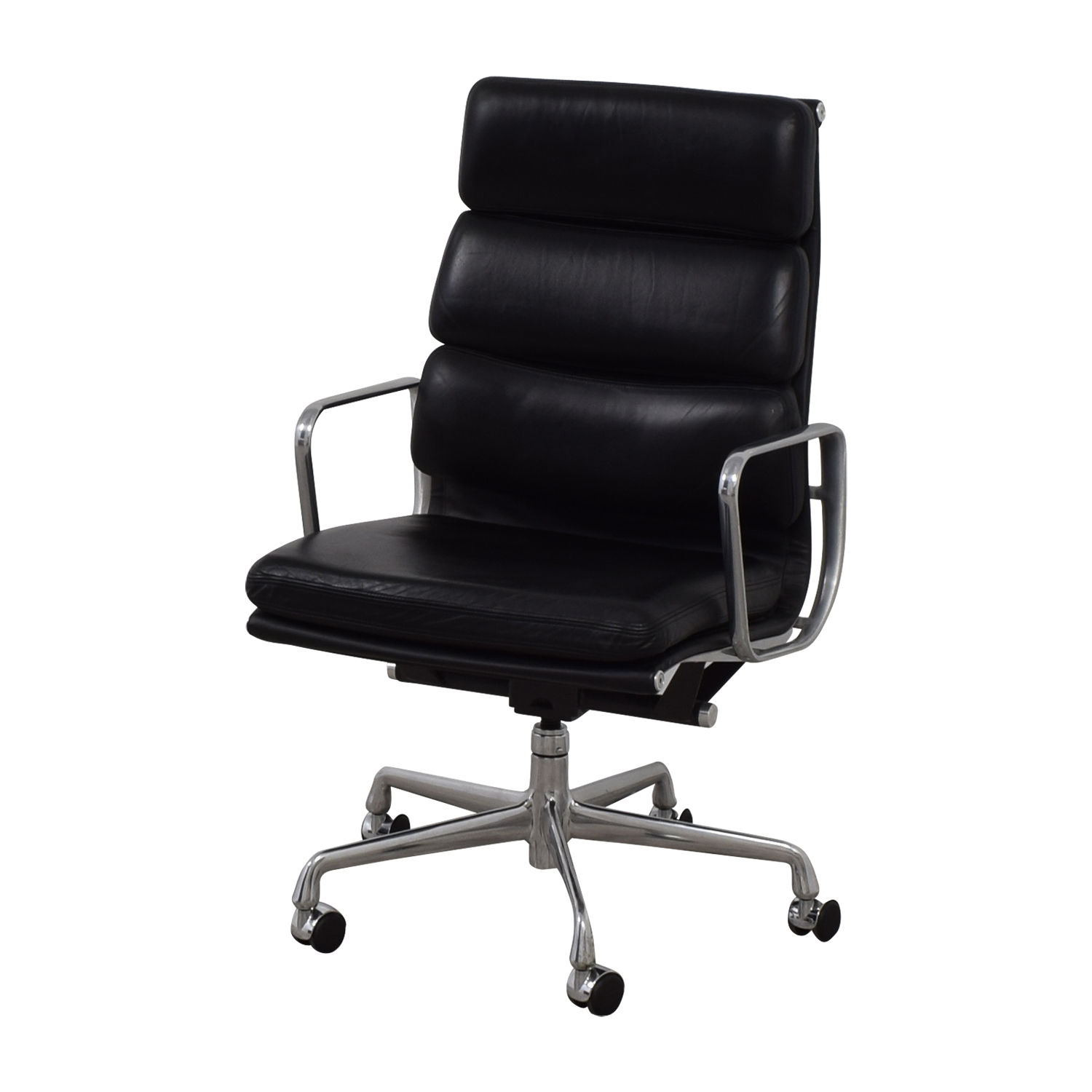 eames leather chair dining office chairs for fat guys 54 off softpad executive black