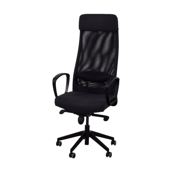 68 - Ikea Black Office Chair Chairs