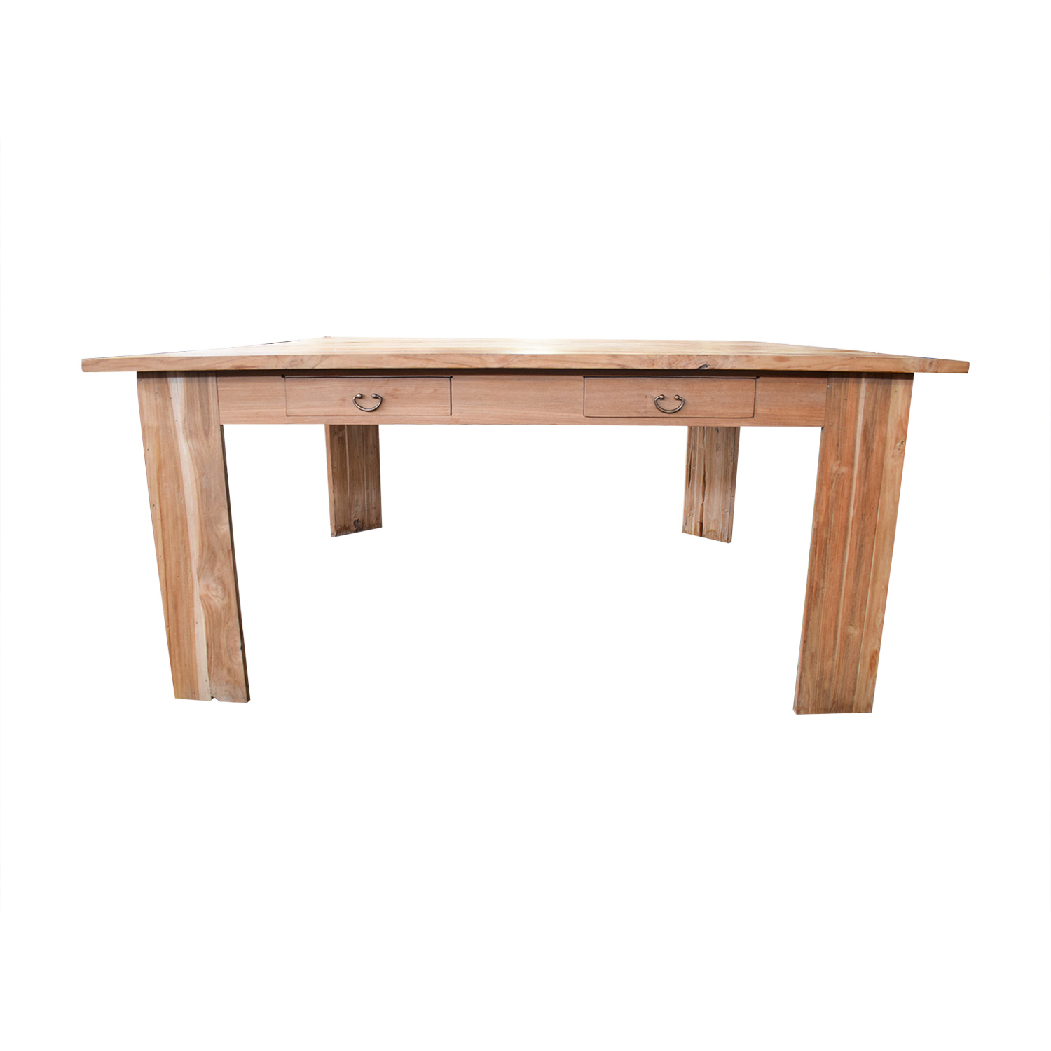 90 OFF  Rustic Wood Square Dining Table  Tables
