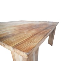 71% OFF - Rustic Wood Square Dining Table / Tables
