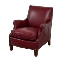 88% OFF - Sam Moore Sam Moore Red Leather Accent Chair ...