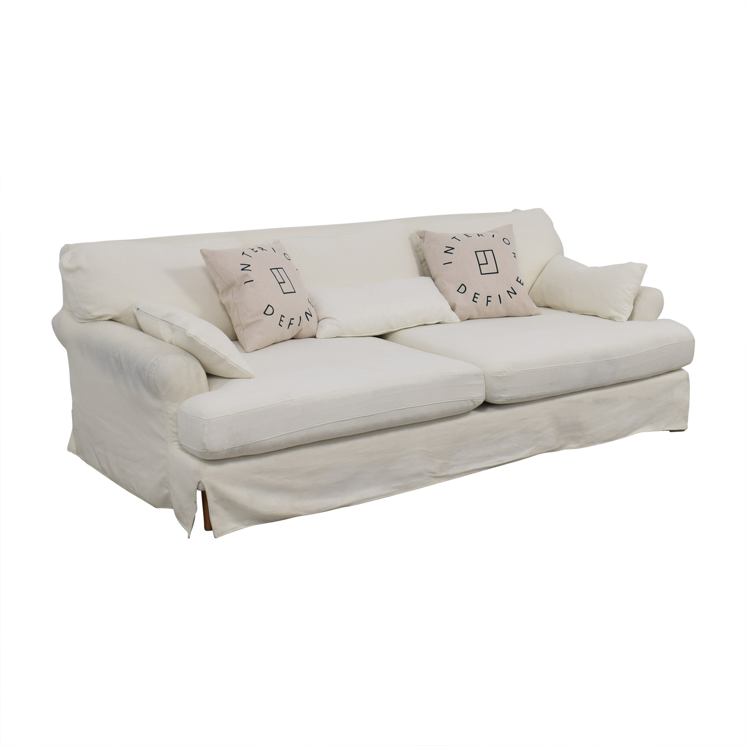 off white slipcover sofa how high should a table be 79 maxwell slipcovered sofas