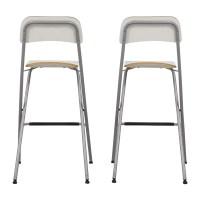 73% OFF - IKEA IKEA White Bar Stools / Chairs