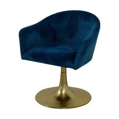 Swivel Chair West Elm Covers Black Spandex 56 Off Bond Blue Velvet Chairs Coupon