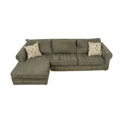 Used Sofa Brown Light Blue Walls Sectional Sofas Microfiber With Chaise