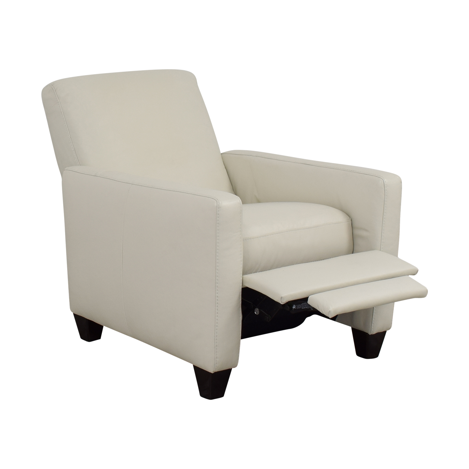 natuzzi lounge chair white cross back dining 69 off leather recliner chairs