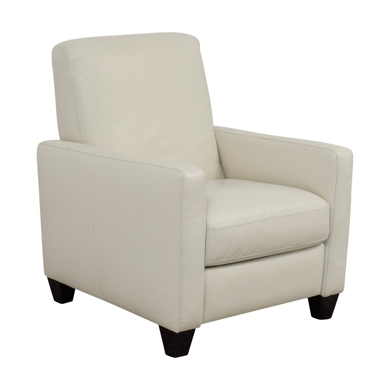 natuzzi lounge chair aeron posturefit 69 off white leather recliner chairs