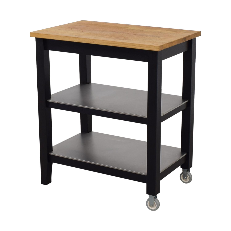 57 OFF  IKEA IKEA Stenstorp Wood and Black Kitchen